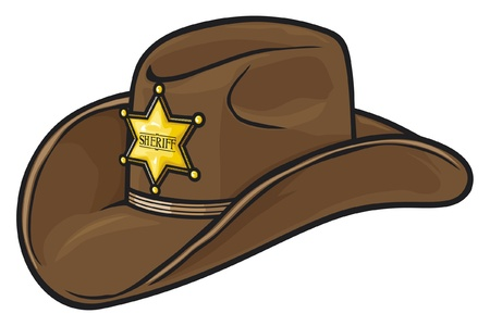 Old Western Sheriff Hat