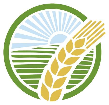 wheat sign, wheat badge,  wheat design