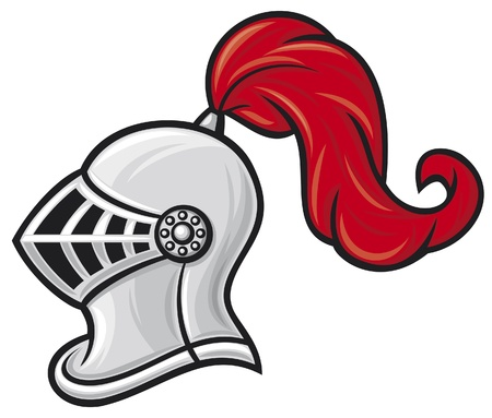 medieval knight helmet  knight head in helmet