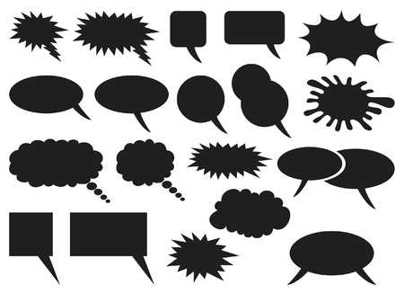 Illustration pour comic speech bubbles - image libre de droit