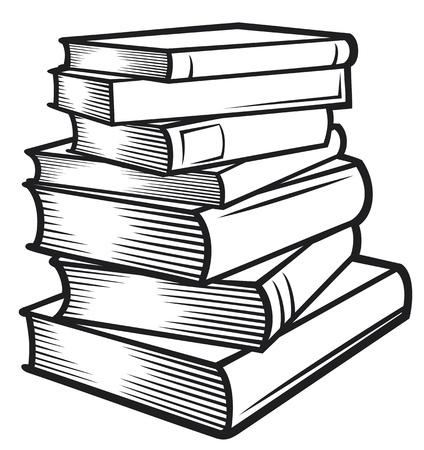 Ilustración de Stack of books  books stacked  - Imagen libre de derechos