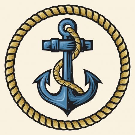 Illustration pour anchor and rope design - image libre de droit