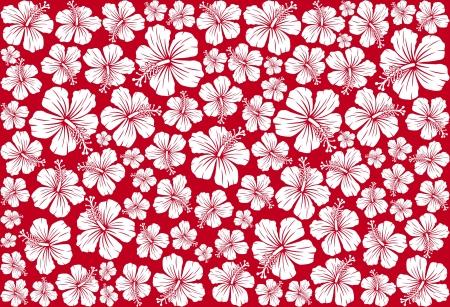 Illustration pour Seamless floral pattern whit hibiscus  hibiscus pattern, seamless hawaiian pattern wallpaper, seamless hibiscus flower background, hawaiian pattern  - image libre de droit