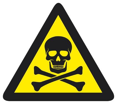 danger sign with skull symbol