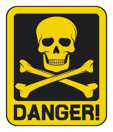 skull danger sign (deadly danger sign)
