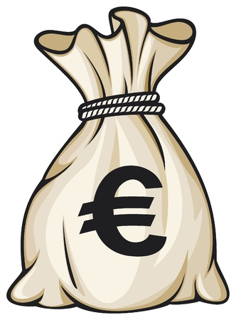 Money bag with euro sign illustration