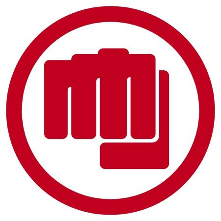 fist symbol  human hand punching sign