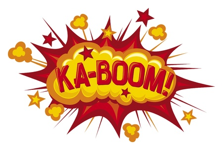 cartoon - ka-boom  comic book element