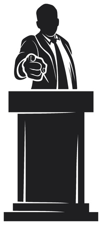 man giving speech  orator speaking at a podium, man speaking at a conference