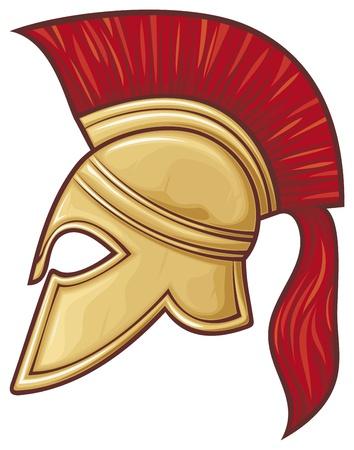 spartan helmet (illustration of an ancient greek warrior helmet, spartan helmet, trojan helmet or gladiator helmet)