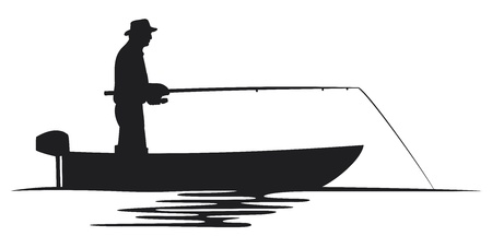 fisherman in a boat silhouette  fisherman silhouette, fishing design, fishermen in a boat fishing