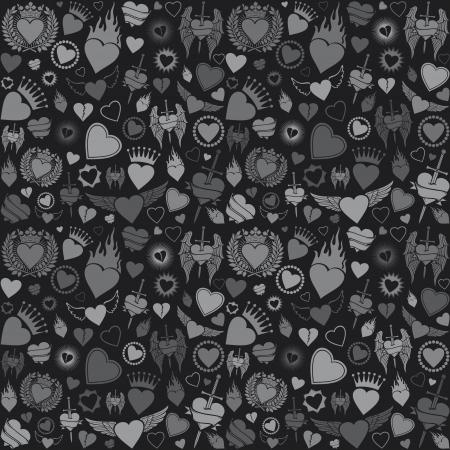 heart seamless pattern  valentine s day background, hearts background