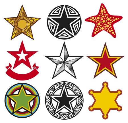 set of vector stars  star collection