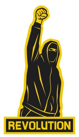 revolution  demonstrator, hooligan, protest man