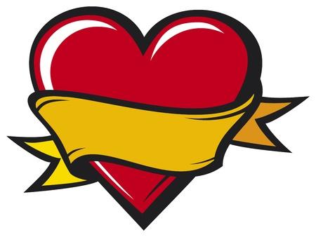 Heart - tattoo style