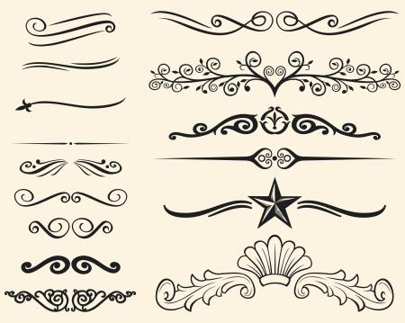 Illustration pour Vector set of decorative elements  decorative lines  - image libre de droit