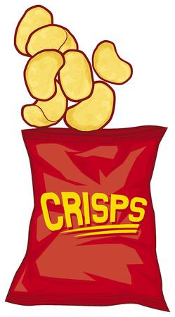 potato chips bag  potato crisps bag