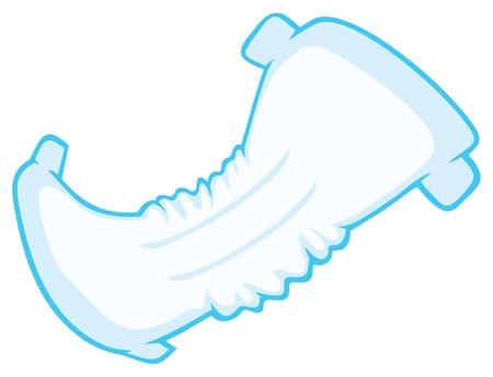 Illustration pour baby absorbent diaper vector illustration - image libre de droit