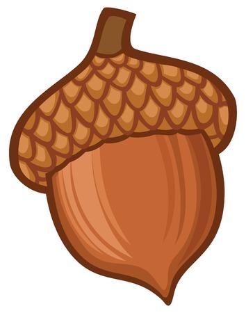 Illustration pour acorn illustration - image libre de droit