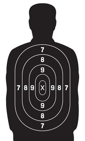 black human target shooting target