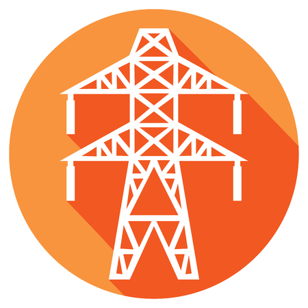 power line flat icon electric transmission line symbol