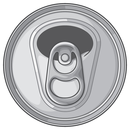 Opened can top.