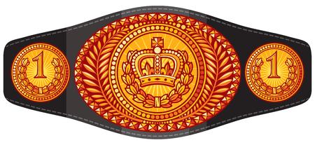 champion (boxing) belt vector illustration