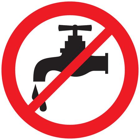 Illustration pour no water tap symbol - image libre de droit