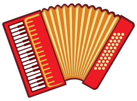Illustration for accordion vector illustration - Royalty Free Image