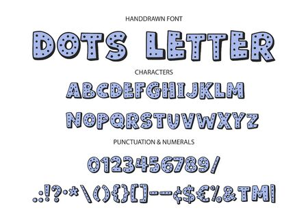 Illustration pour Cute hand drawn display vector alphabet ABC font with letters, numbers, symbols. For calligraphy, lettering, hand made quotes. - image libre de droit
