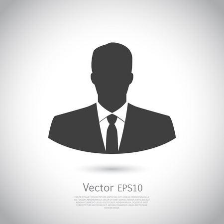 User icon of man in business suit. Vector. Icon EPS10