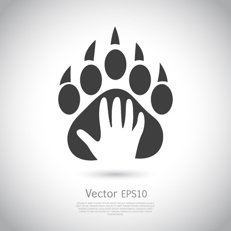 Ilustración de Icon design template. Abstract concept for pet shop or veterinary. Vector. Icon EPS10. - Imagen libre de derechos