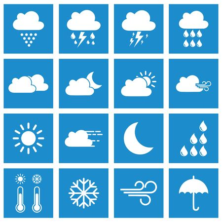 Illustration for weather icon vector design symbol - Royalty Free Image