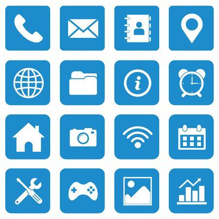 Illustration for web icon set vector design symbol - Royalty Free Image