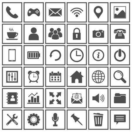 Illustration pour web icon set vector design symbol - image libre de droit