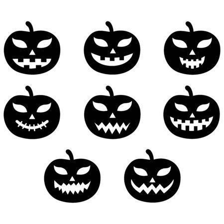 Illustration pour pumpkin face icon vector design symbol - image libre de droit