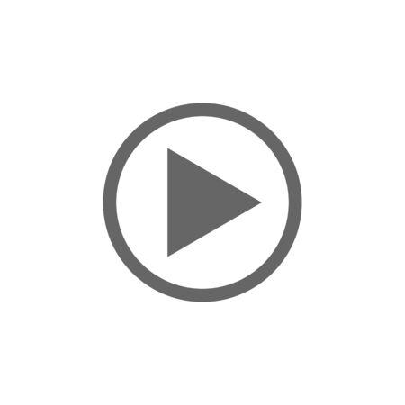 Illustration pour media player icon vector design symbol - image libre de droit
