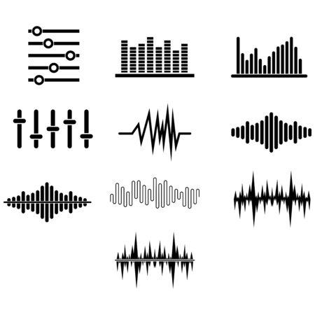 Illustration pour sound wave icon vector design symbol - image libre de droit