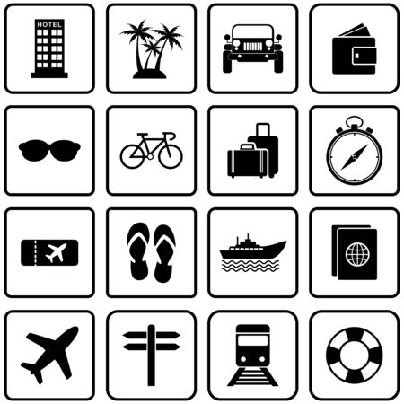 Illustration for tour and travel icon vector design symbol - Royalty Free Image