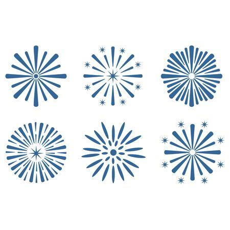 Illustration for firework icon vector design symbol - Royalty Free Image