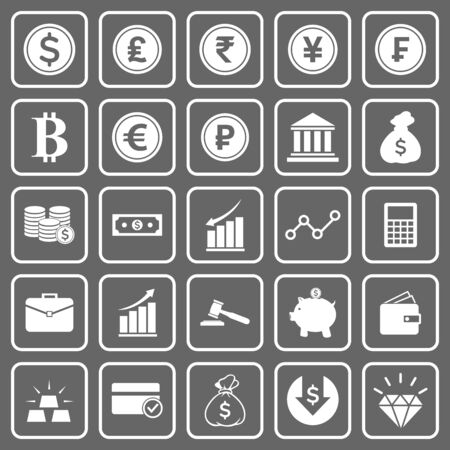Illustration for money and finance icon vector design symbol - Royalty Free Image