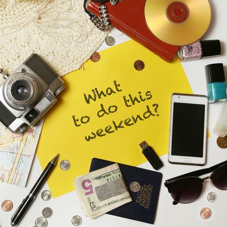 Foto de What to do this weekend? - Imagen libre de derechos