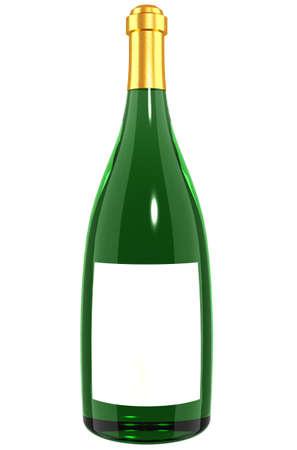 A bottle of Wine - green glass bottle