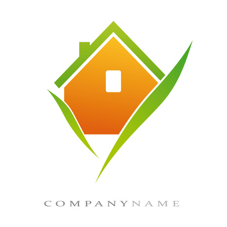 Logotype for ecological home, with new energies