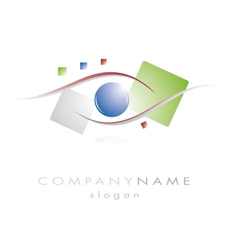 logo for company with vision illustration