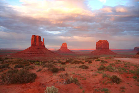 Monument Valley at sunset (America)