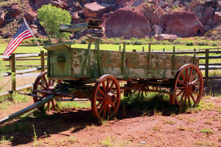 View of a typical american working cart.