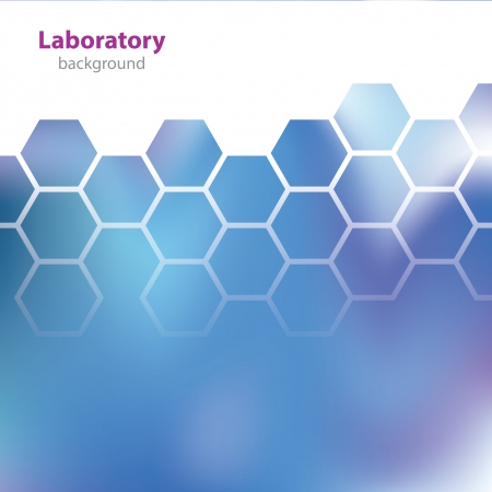 Abstract blue medical laboratory background