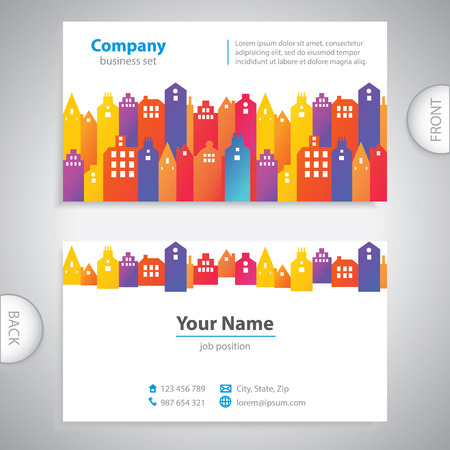 business card - Abstract city buildings - company presentations