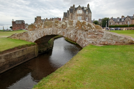 The famous Swilcan bridge on St Andrew Old Course